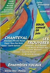 affiche Trouveres Chanteval Juin 2012
