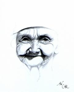 Femme âgée souriante