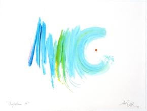 """""""Impulsion 11"""", aquarelle, (20x30) cm"""